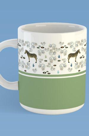 mug motif 10 - zebre by caroleartco