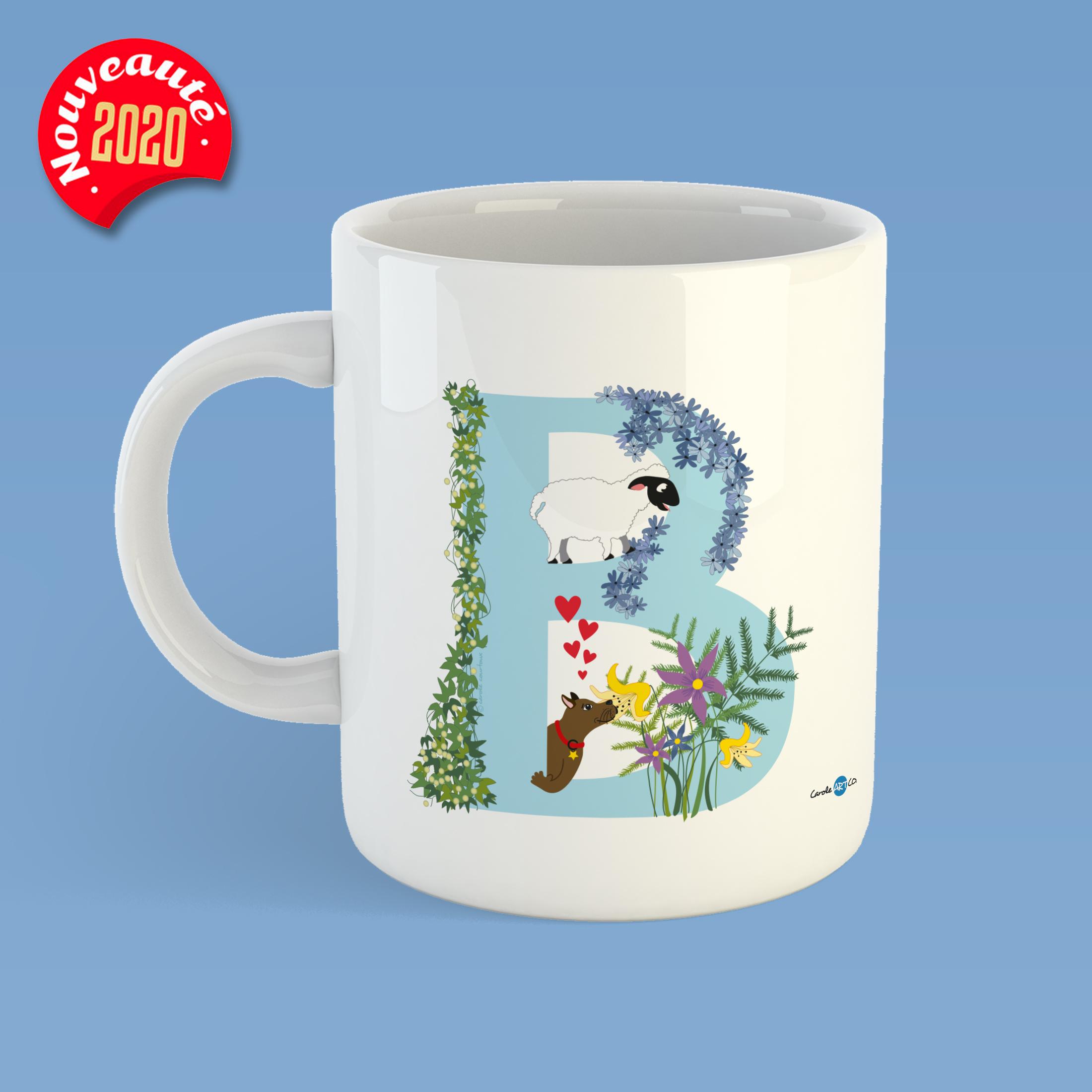 mug-ABC-B mug personnalisé illustration enfant