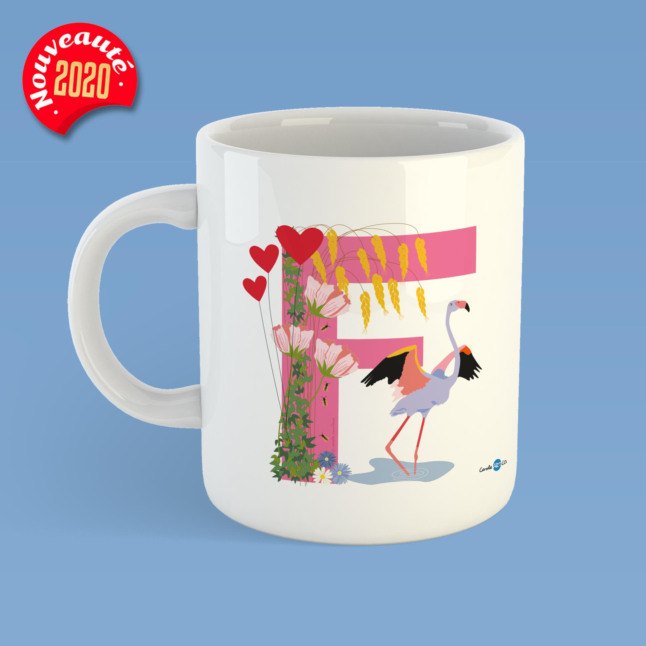 mug-ABC-F mug personnalisé illustration enfant