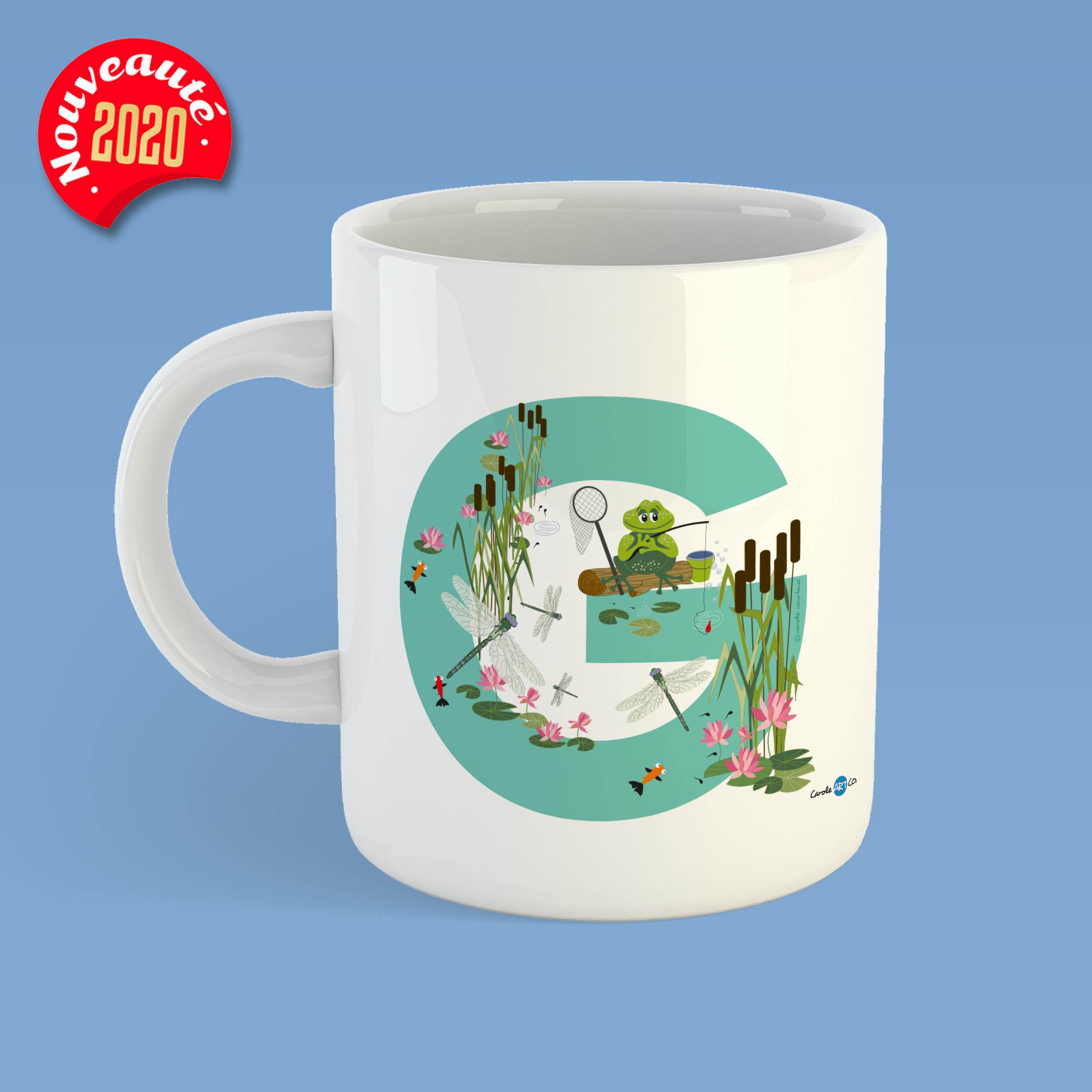 mug-ABC-G mug personnalisé illustration enfant
