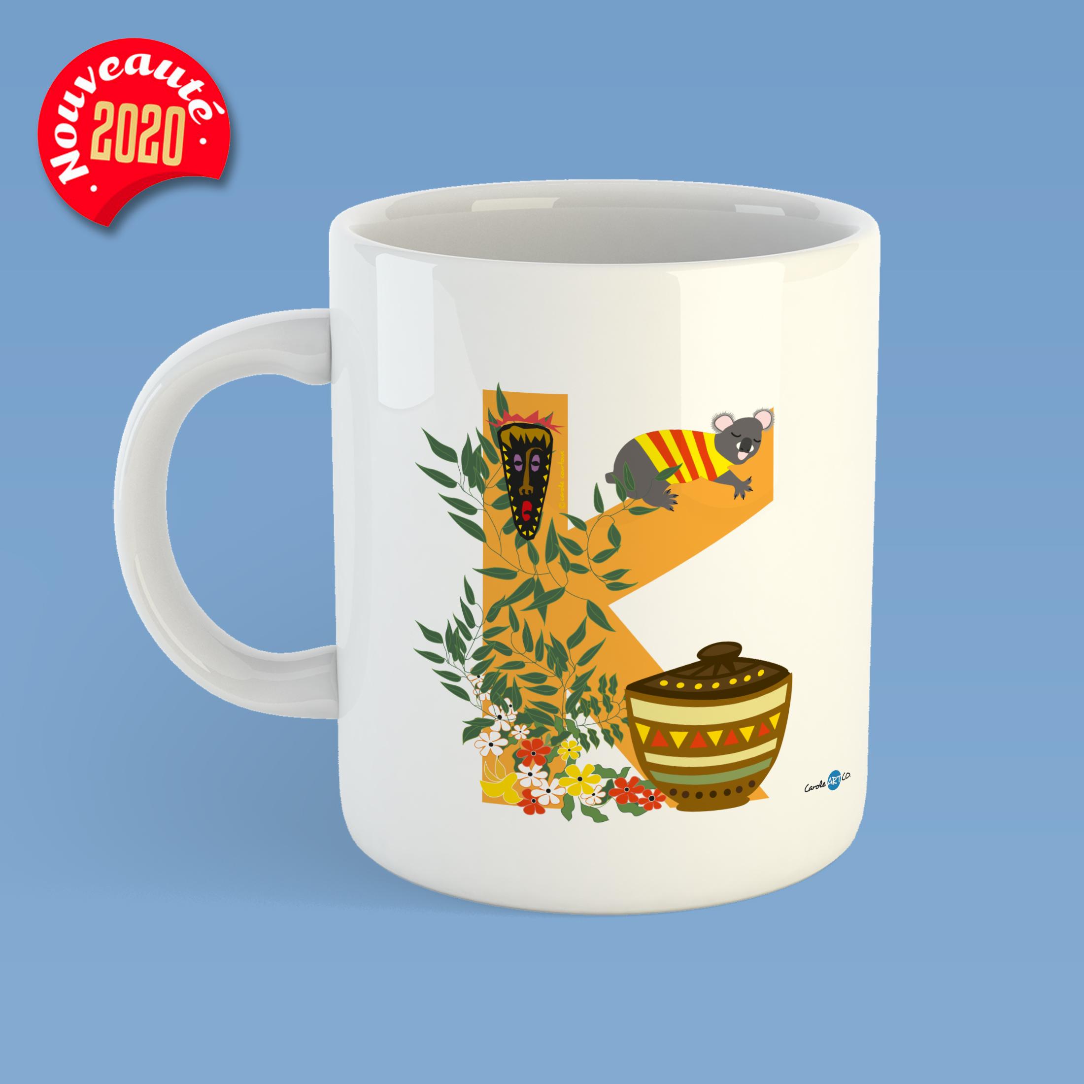 mug-ABC-K mug personnalisé illustration enfant