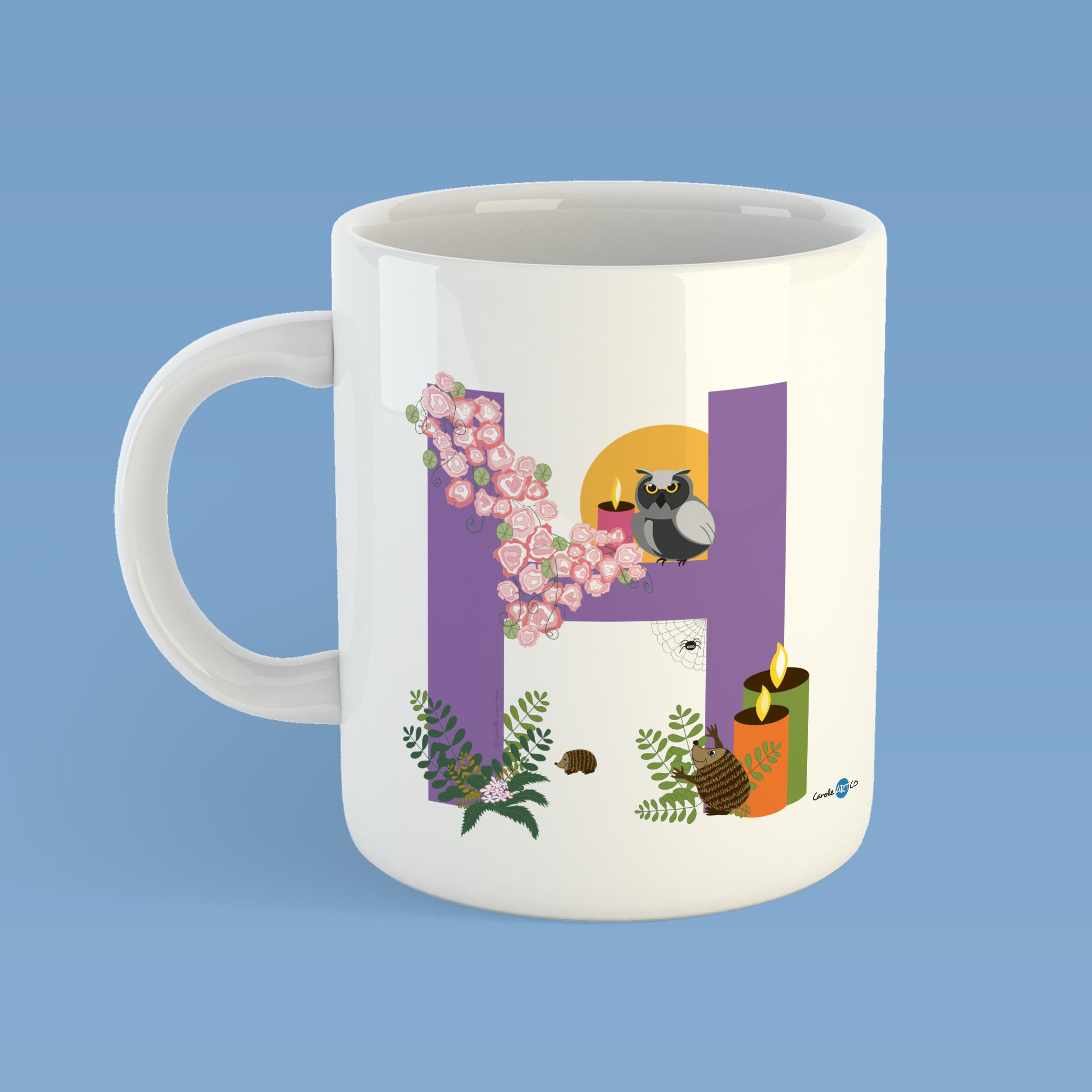 mug-ABC-H mug personnalisé illustration enfant