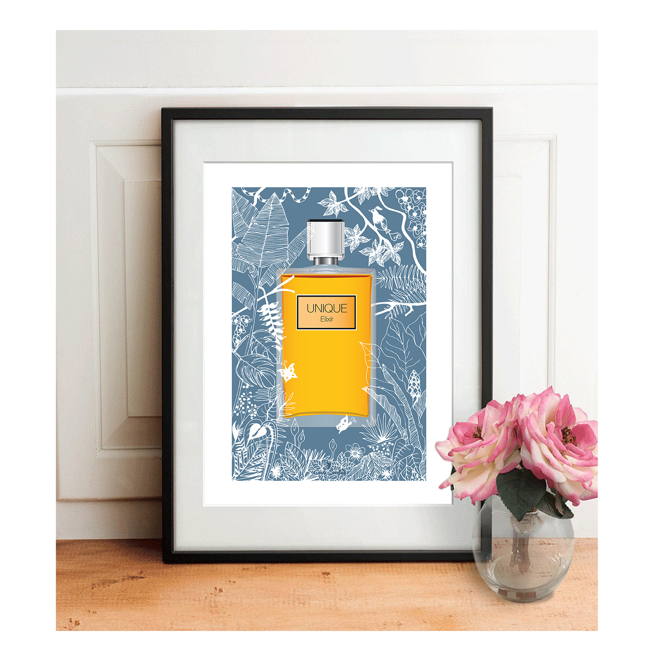 affiche a4 illustration parfum by carole courtoux