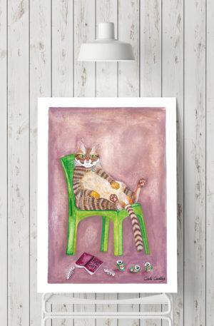 affiches1-peinture-bad cat by carole courtoux