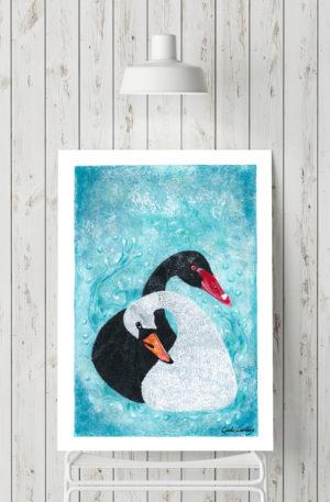 affiches1-peinture-cols de cygnes by carole courtoux