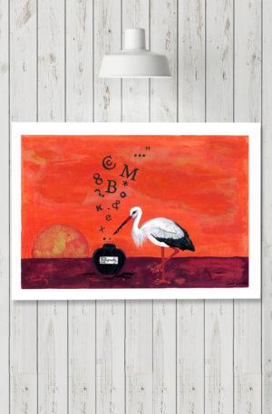 affiches1-peinture-encre de mots by carole courtoux