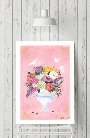 affiches1-peinture-o bal fleuri by carole courtoux