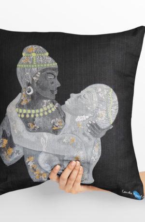 coussin 40x40 coussin peinture les amants pierre by carole courtoux