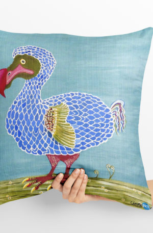 coussin 40x40 peinture dodo by carole courtoux