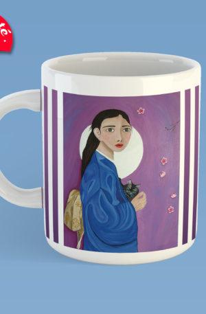mug peinture GEKKU by carole courtoux