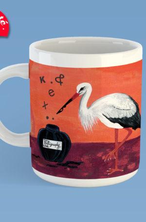 mug peinture encre de mots by carole courtoux